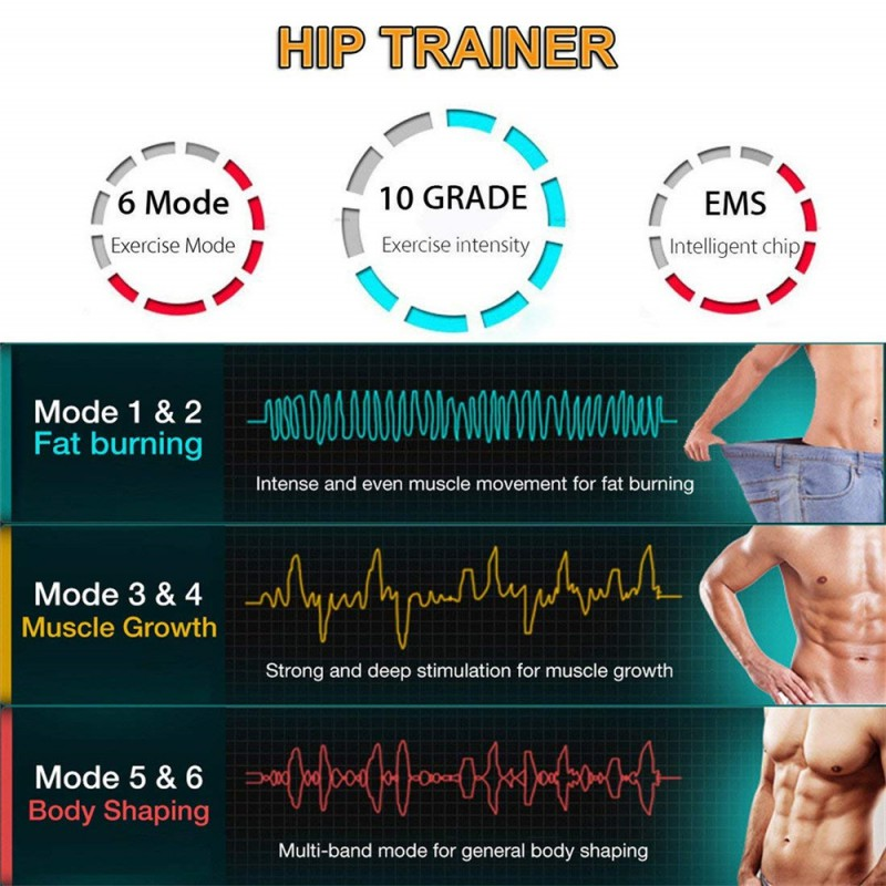 Details about  /Electric Trainer Hip Trainer Help Lift Shape  Buttock Butt Muscle Trainer USA